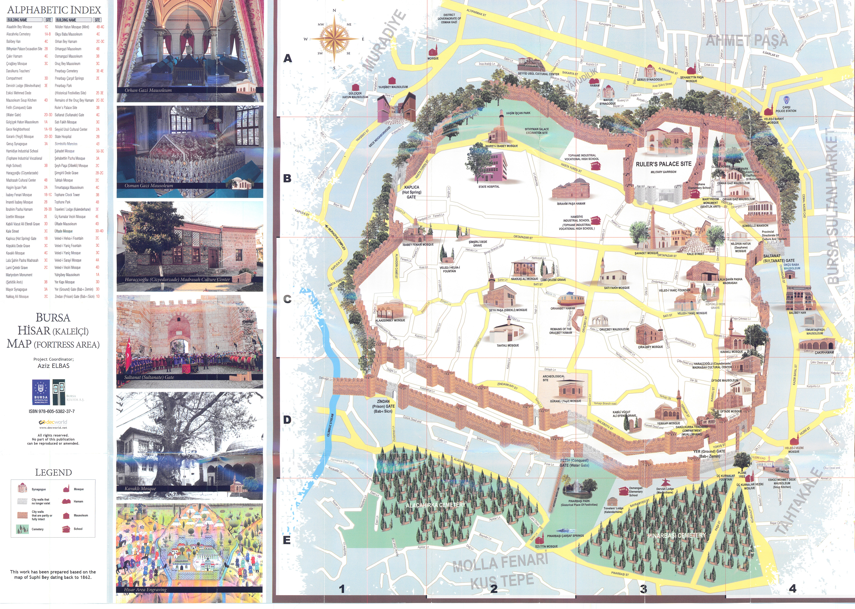 Bursa Touristic City Map